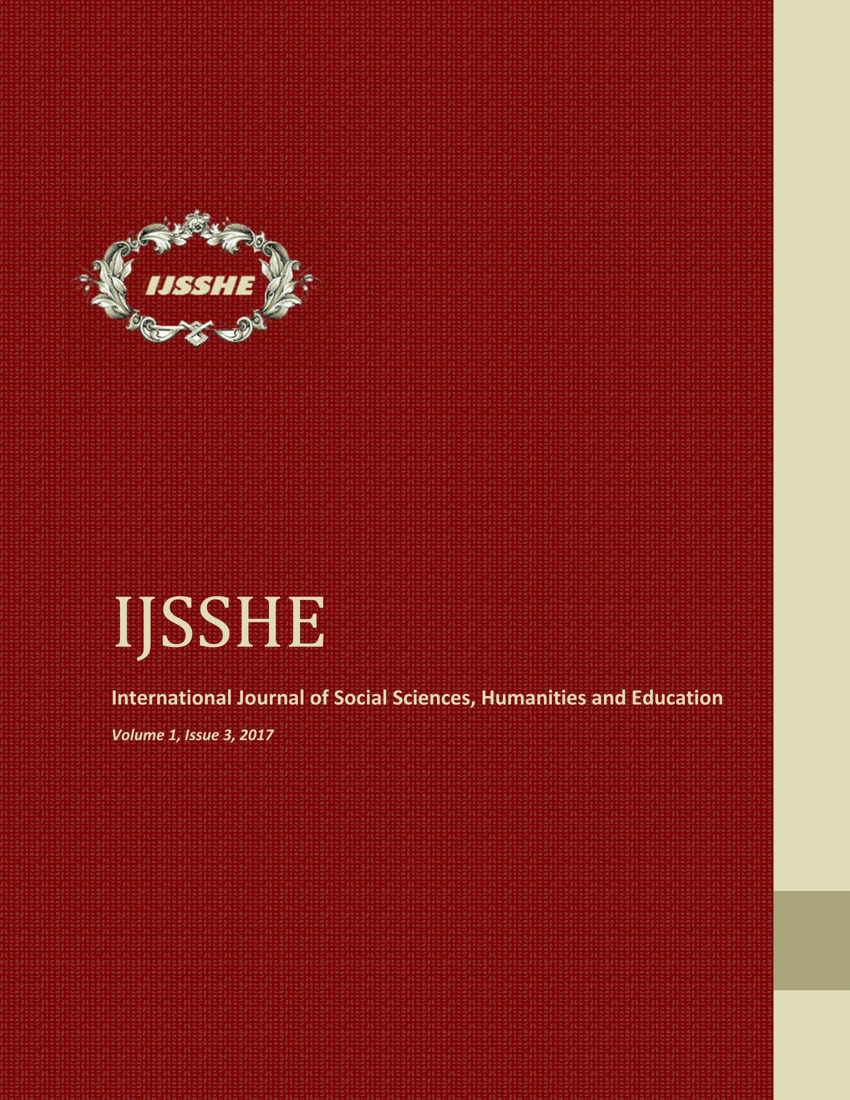 IJSSHE Vol 1, Issue 3, 2017